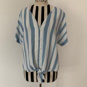 Velvet Heart short sleeved button up tie shirt